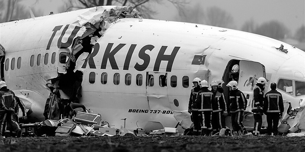 Foto crash Turkish Airlines (Copyright Fred Vloo / RNW). De foto hoort bij de definitie van een ramp. Wat is een ramp?